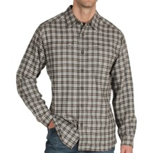 ExOfficio Trailing Off Micro Plaid Shirt - Long Sleeve (For Men) in Dark Forest - Closeouts