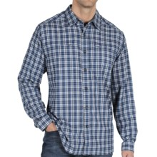 ExOfficio Trailing Off Micro Plaid Shirt - Long Sleeve (For Men) in Ensign - Closeouts