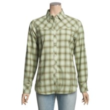 ExOfficio Trailing Off Shirt - Plaid Flannel, Long Sleeve (For Women) in Light Jade - Closeouts