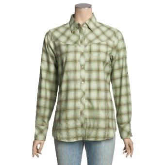 ExOfficio Trailing Off Shirt - Plaid Flannel, Long Sleeve (For Women) in Light Jade