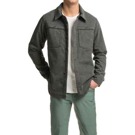 ExOfficio Triberg Shirt Jacket - UPF 50, Fleece Lined, Long Sleeve (For Men) in Black - Closeouts