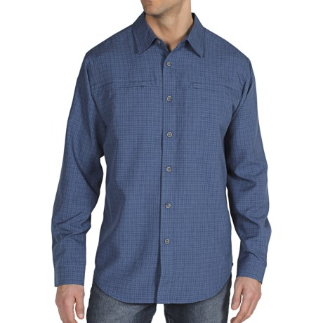 ExOfficio Trifecta Check Shirt - UPF 30+, Long Sleeve (For Men) in Ensign