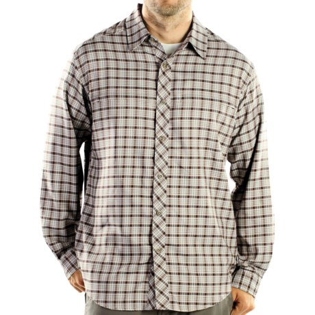 ExOfficio Trifecta Plaid Shirt - Long Sleeve (For Men) in Sage