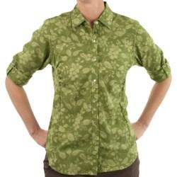 ExOfficio Trifera Flora Shirt - Long Sleeve (For Women) in Light Jade