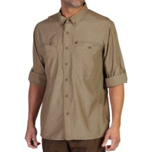 ExOfficio TriFlex Hybrid Shirt - UPF 30+, Long Sleeve (For Men) in Walnut - Closeouts