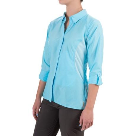 ExOfficio TriFlex Hybrid Shirt - UPF 30+, Roll-Up Long Sleeve (For Women) in Tropez