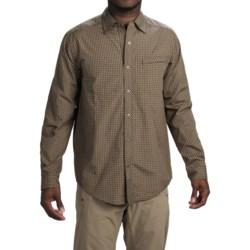 ExOfficio Trip'r Check Shirt - UPF 30+, Roll-Up Long Sleeve (For Men) in Black