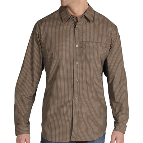 ExOfficio Trip'r Check Shirt - UPF 30+, Roll-Up Long Sleeve (For Men) in Cigar