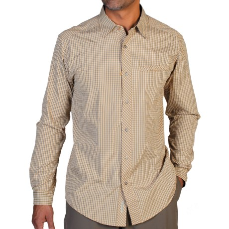ExOfficio Trip'r Check Shirt - UPF 30+, Roll-Up Long Sleeve (For Men) in Twig