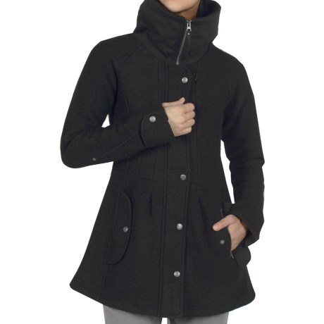 ExOfficio Tweedmuir Jacket - Boiled Wool (For Women) in Black