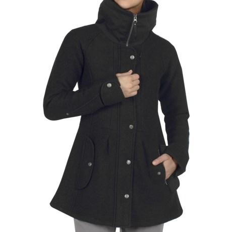 ExOfficio Tweedmuir Jacket - Boiled Wool (For Women) in Black