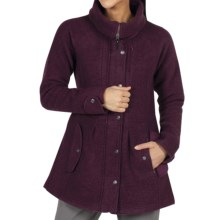 ExOfficio Tweedmuir Jacket - Boiled Wool (For Women) in Plum - Closeouts