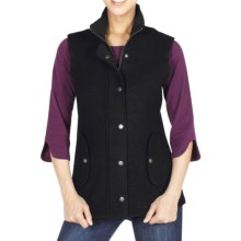ExOfficio Tweedmuir Vest - Boiled Wool (For Women) in Black - Closeouts