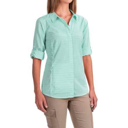 ExOfficio Ventana Striped Shirt - Long Sleeve (For Women) in Aruba - Closeouts