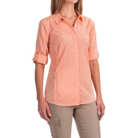 ExOfficio Ventana Striped Shirt - Long Sleeve (For Women) in Cantaloupe - Closeouts