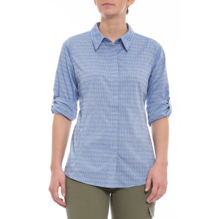 05074aef ExOfficio Ventana Striped Shirt - Long Sleeve (For Women) in Lobelia -  Closeouts