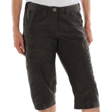 ExOfficio Vent'r Digr Capri Pants - Nio Nycott Ripstop UPF 30 (For Women) in Dark Charcoal