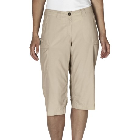 ExOfficio Vent'r Dig'r Capri Pants - UPF 20+ (For Women) in Bone