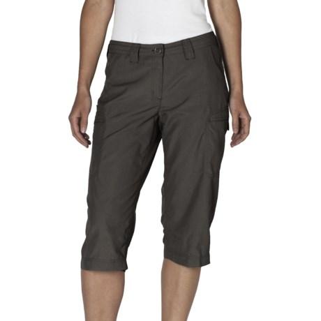 ExOfficio Vent'r Dig'r Capri Pants - UPF 20+ (For Women) in Dark Charcoal