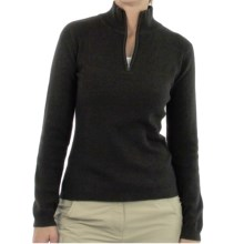 ExOfficio Venture PrimaLoft® Wool Sweater - Zip Neck, Long Sleeve (For Women) in Black - Closeouts