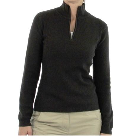 ExOfficio Venture PrimaLoft® Wool Sweater - Zip Neck, Long Sleeve (For Women) in Black