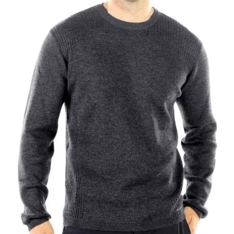 ExOfficio Venture Sweater - Merino Wool (For Men) in Dark Charcoal