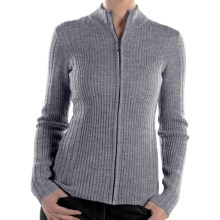 ExOfficio Venture Wool Cardigan Sweater - Full Zip (For Women) in Grey Heather - Closeouts