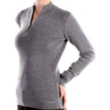 ExOfficio Venture Wool Sweater - Merino Wool (For Women) in Grey Heather - Closeouts
