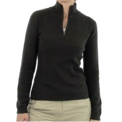ExOfficio Venture Wool Sweater - Zip Neck, Long Sleeve (For Women) in Black