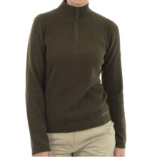 ExOfficio Venture Wool Sweater - Zip Neck, Long Sleeve (For Women) in Olive - Closeouts