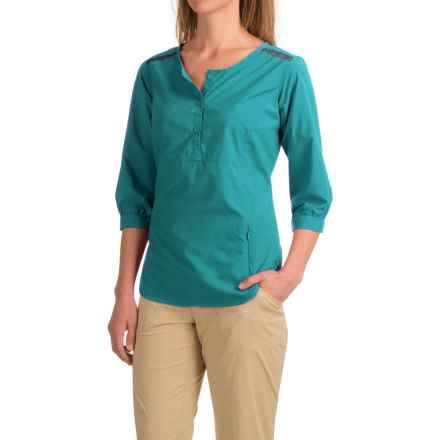 ExOfficio Vernazza Shirt - UPF 30+, Long Sleeve (For Women) in Aquatic - Closeouts