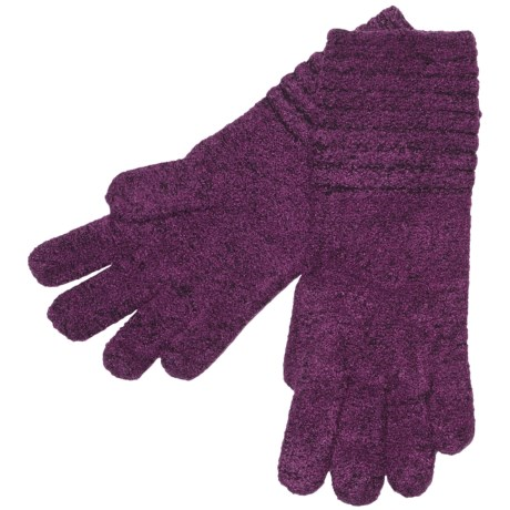 ExOfficio Vona Gloves (For Women) in Plum/Dark Thistle