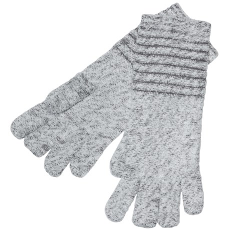 ExOfficio Vona Gloves (For Women) in Winter White/Slate