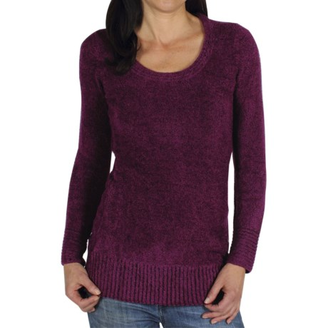 ExOfficio Vona Long Sweater - Scoop Neck (For Women) in Plum