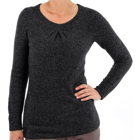 ExOfficio Vona Scoop Sweater (For Women) in Dark Pebble