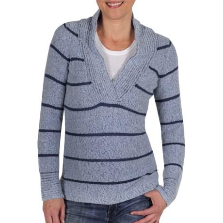 ExOfficio Vona Sweater - Shawl Collar (For Women) in Frost/Ensign