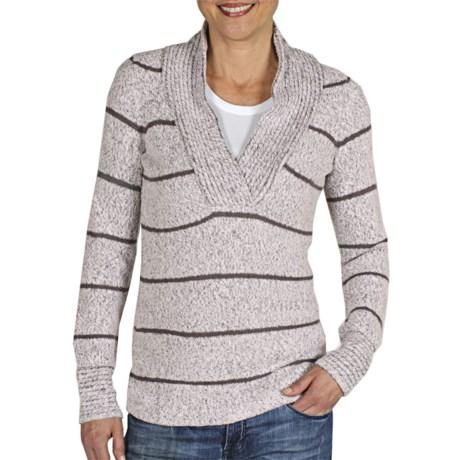 ExOfficio Vona Sweater - Shawl Collar (For Women) in Winter White