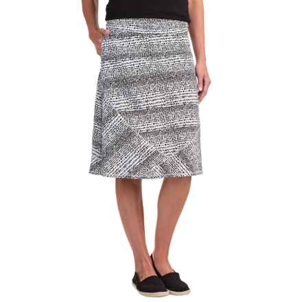 ExOfficio Wanderlux Convertible Printed Skirt - UPF 30 (For Women) in Black/White - Closeouts