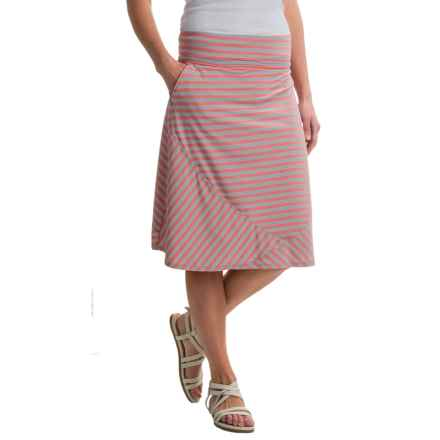 ExOfficio Wanderlux Convertible Skirt - UPF 30 (For Women) in Hot Coral Stripe - Closeouts