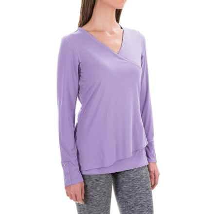 ExOfficio Wanderlux Crossfront Shirt - Long Sleeve (For Women) in Lupine - Closeouts