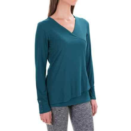 ExOfficio Wanderlux Crossfront Shirt - Long Sleeve (For Women) in Marina - Closeouts