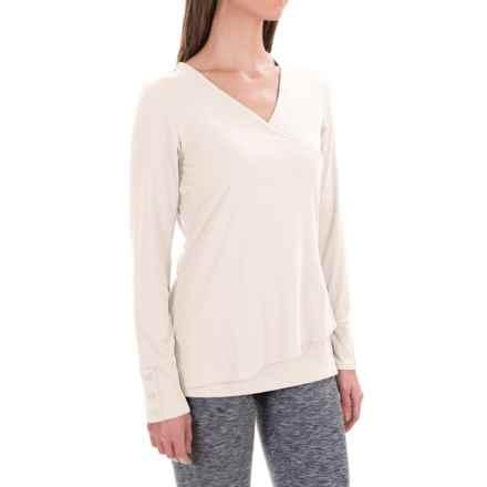 ExOfficio Wanderlux Crossfront Shirt - Long Sleeve (For Women) in Vellum - Closeouts