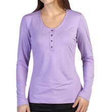 ExOfficio Wanderlux Henley Shirt - Long Sleeve (For Women) in Lupine - Closeouts