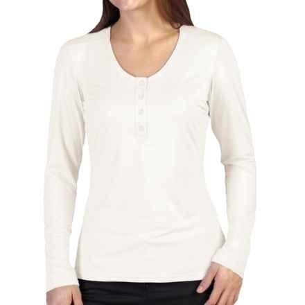 ExOfficio Wanderlux Henley Shirt - Long Sleeve (For Women) in Vellum - Closeouts