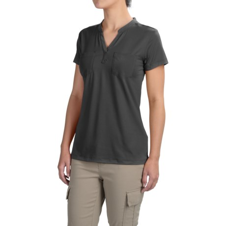 ExOfficio Wanderlux Henley Shirt - UPF 30, Short Sleeve (For Women)