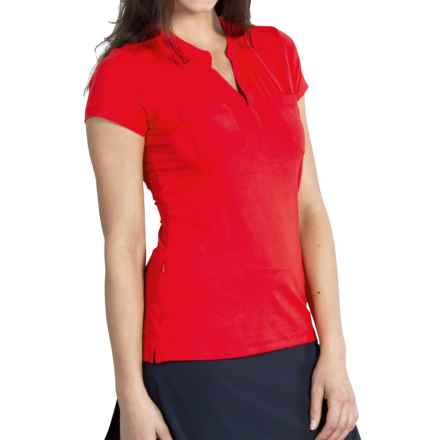 ExOfficio Wanderlux Henley Shirt - UPF 30, Short Sleeve (For Women) in Sriracha - Closeouts