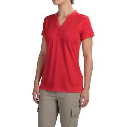 ExOfficio Wanderlux Henley Shirt - UPF 30, Short Sleeve (For Women) in Sriracha - Closeouts