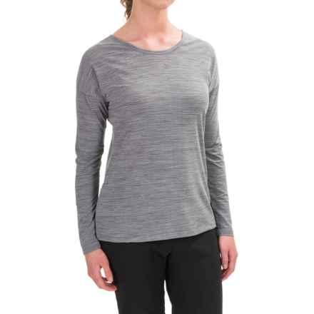 ExOfficio Wanderlux Jacquard Ballet Shirt - UPF 30, Long Sleeve (For Women) in Charcoal Heather - Closeouts