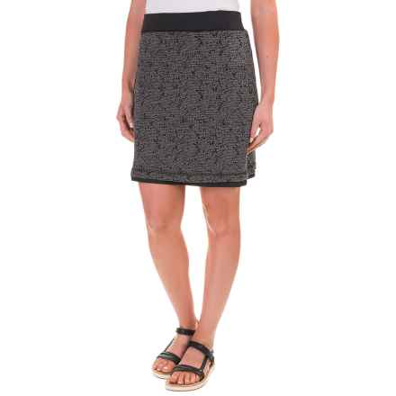 ExOfficio Wanderlux Reversible Skirt - UPF 30 (For Women) in Charcoal Heather Textured - Closeouts