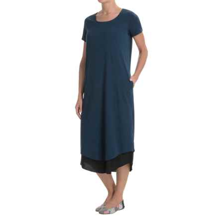 ExOfficio Wanderlux Reversible T-Shirt Dress - UPF 30, Short Sleeve (For Women) in Indigo/Black - Closeouts